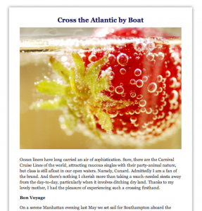 Promotional Blog: Cross the Atlantic by Boat
