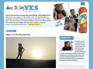 "Nestea ""Dare to Say Yes"" Campaign: ""Make it to the Mountaintop"" on Glamour"