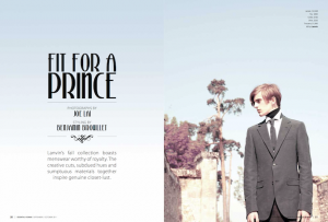Hed & Dek for Photo Story: Essential Homme Sept-Oct 2011
