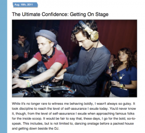 "Nestea ""Dare to Say Yes"" Campaign: ""The Ultimate Confidence: Getting on Stage"" on Glamour"