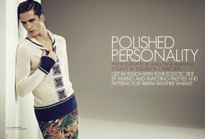 Hed & Dek for Photo Story: Essential Homme Jan-Feb 2012