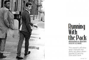 Hed & Dek for Photo Story: Essential Homme Jan-Feb 2013