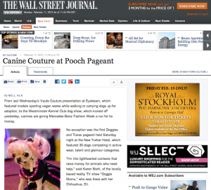 Feature: Canine Fashion Pageant