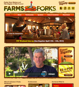 "Copyediting & Copywriting: ""Farms 2 Forks"" Event Website"