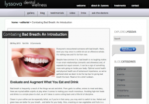 "Dentistry Blog: ""Combating Bad Breath: An Introduction"""