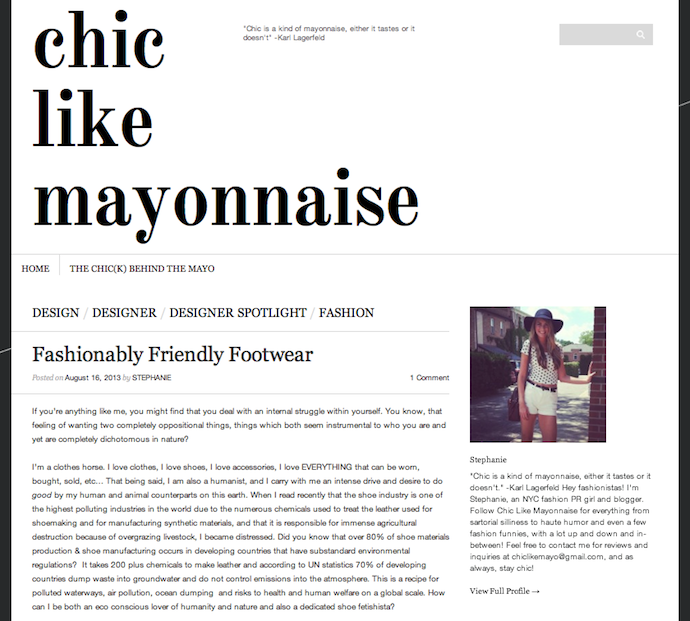 Chic Like Mayonnaise for Nicora Johns