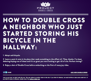 Copywriting: DiMassimo Goldstein X Double Cross Vodka