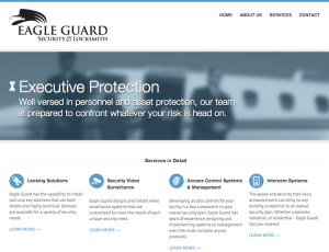 Copywriting & Copyediting: Eagle Guard Security Website