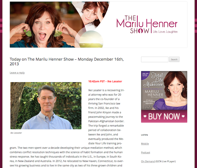 The Marilu Henner Show for Our Hen House