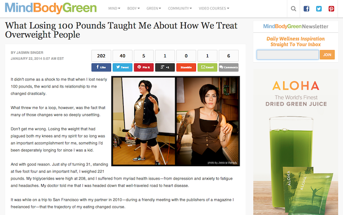 Mind Body Green for Jasmin Singer of Our Hen House