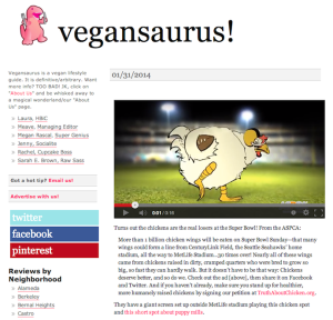 Vegansaurus for ASPCA