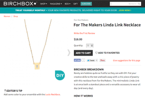 "For the Makers ""Linda Link Necklace"" Product Copy for Birchbox"