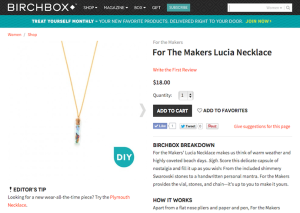 "For the Makers ""Lucia Necklace"" Product Copy for Birchbox"