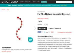 "For the Makers ""Maneater Bracelet"" Product Copy for Birchbox"