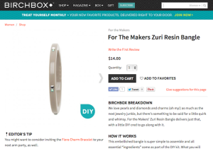 "For the Makers ""Zuri Resin Bangle"" Product Copy for Birchbox"