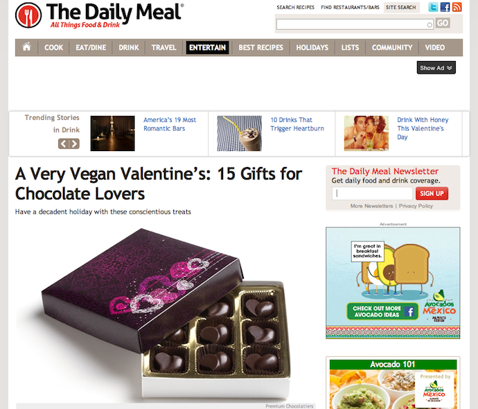 "Feature: ""A Very Vegan Valentine's Day"""