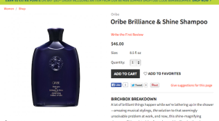 "Oribe ""Brilliance & Shine Shampoo"" Product Copy for Birchbox"