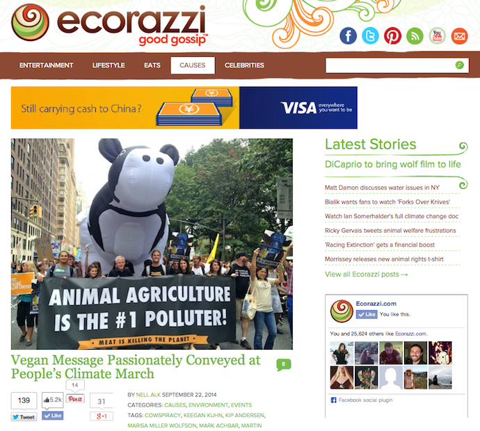 """Vegan Message Passionately Conveyed at People's Climate March"""