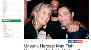 Feature: Unsunk Heroes: Max Fish Navigating Nightlife Waters Once Again