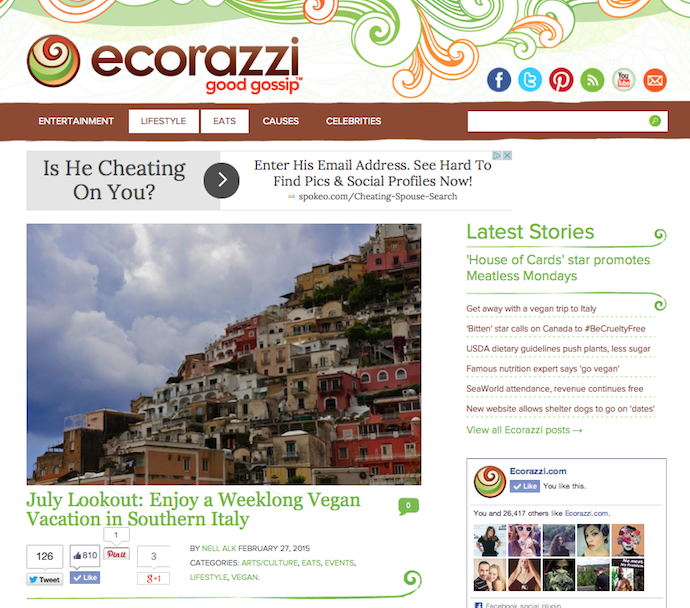 """Promo: """"July Lookout: Enjoy a Weeklong Vegan Vacation in Southern Italy"""""""