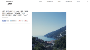"Promo: ""Jet Set July – Plan for Fuss-Free Vegan Travel this Summer in Southern Italy"""