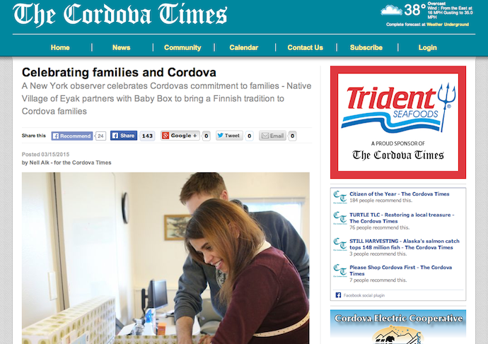 """Celebrating Families & Cordova"""