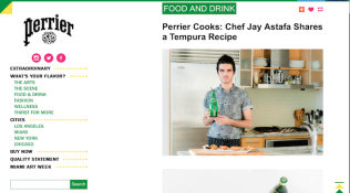 Perrier Cooks: Chef Jay Astafa Shares a Tempura Recipe