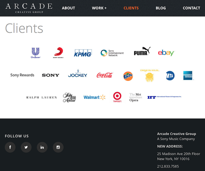 COPYEDITING: SONY ARCADE CREATIVE GROUP