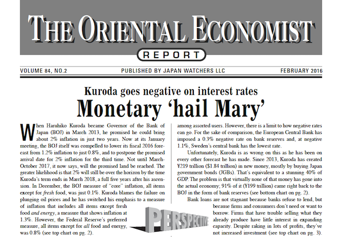 COPYEDITING: THE ORIENTAL ECONOMIST