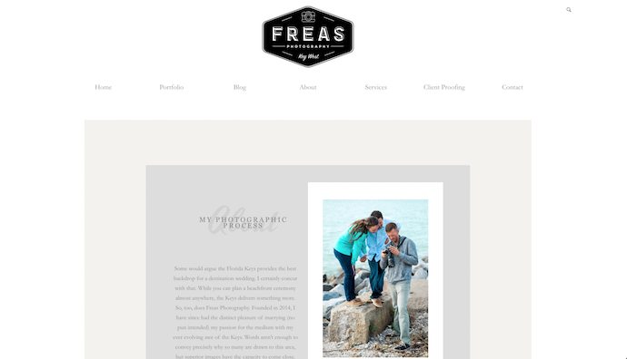 Website Bio: Freas Photography Key West